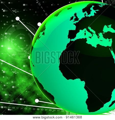 Europe Africa Globe Means Country Planet And African