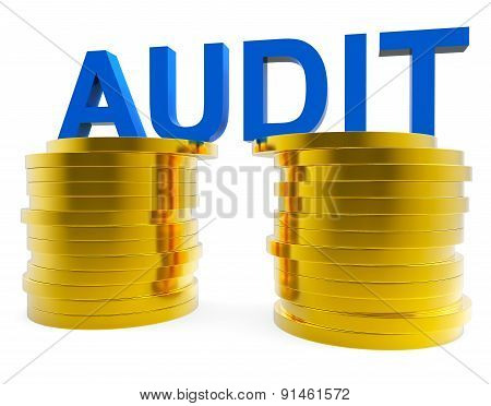 Audit Money Represents Balancing The Books And Accountant