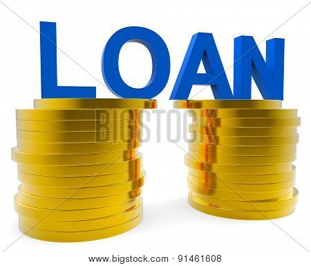 Cash Loan Represents Debit Card And Bankcard