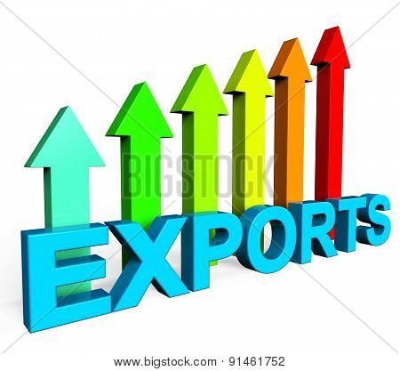 Exports Increasing Shows International Selling And Exportation