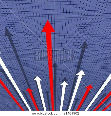Arrows Graph Means Financial Report And Analysis