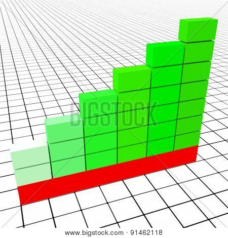 Increase Graph Represents Text Space And Copy