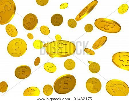 Pound Coins Represents Cost Wealth And Finance