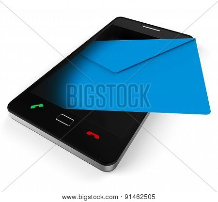 Phone Email Represents World Wide Web And Chat