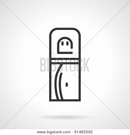 Office water cooler vector icon