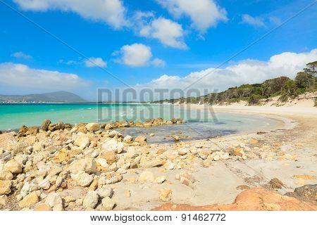Yellow Rocks In Maria Pia Beach