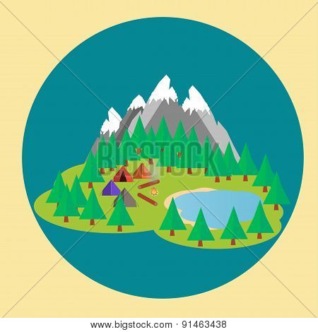 Mountains camp