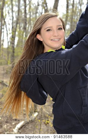 Beautiful Teenager Outdoors