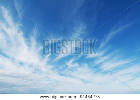 Stratiform Clouds In The Sky