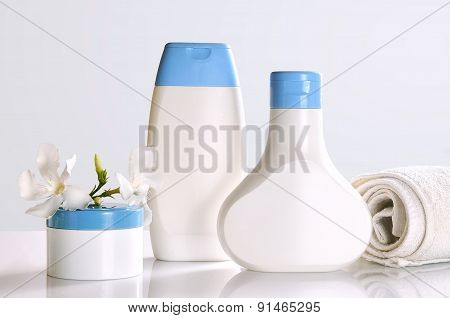 Body Care And Beauty Products Front View Isolated