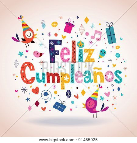 Feliz Cumpleanos - Happy Birthday in Spanish card