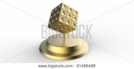 Golden Master Cube Statuette