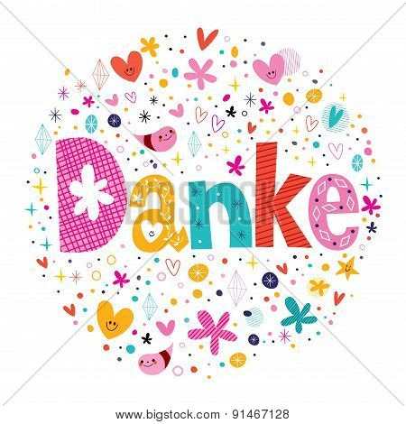 Danke - Thanks in German