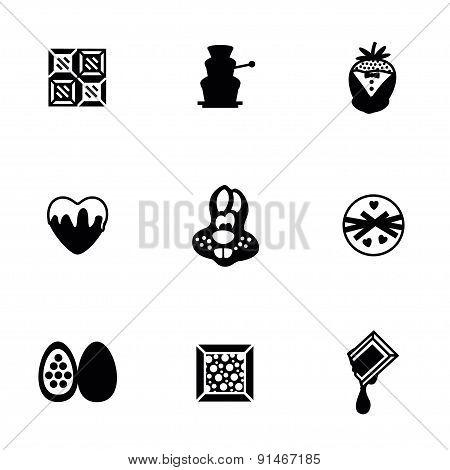 Vector Chocolate icon set