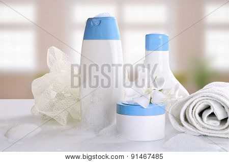 Body Care And Beauty Products With Foam