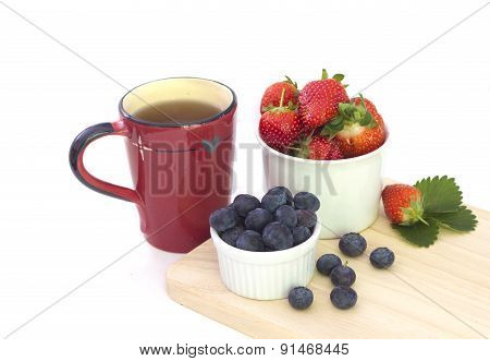 Breakfast on white