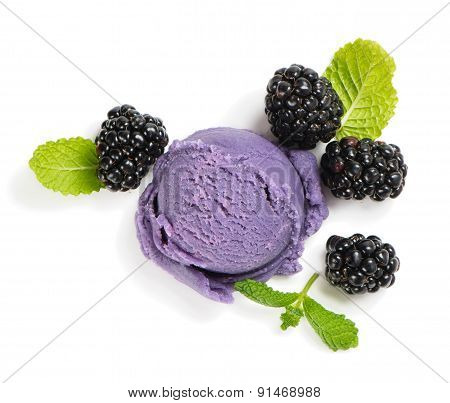 Blackberry Ice Cream, View From Above