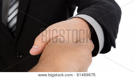 Businessman offering for handshake