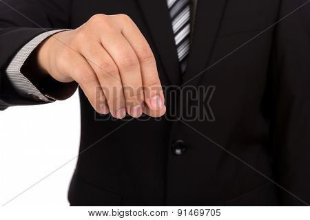 Hand of business man