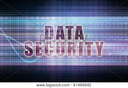 Data Security on a Tech Business Chart Art