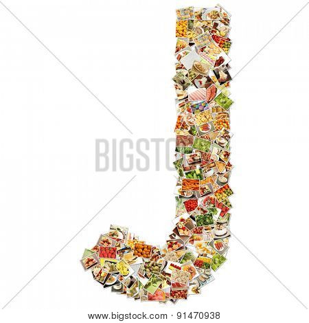 Letter J Uppercase Font Shape Alphabet Collage