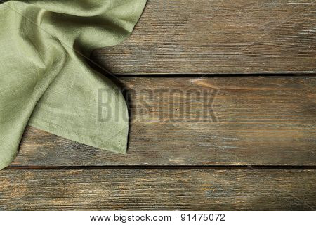 Napkin on wooden table