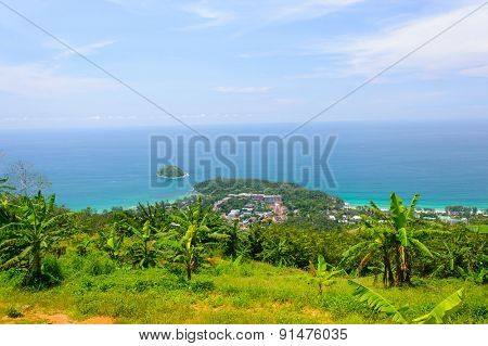 View on Phuket island from the hill