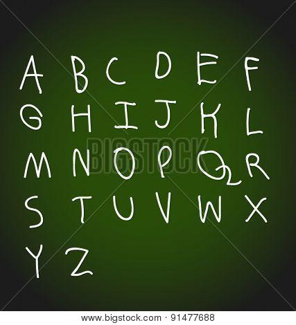 Hand drawing alphabet design, vector illustration.