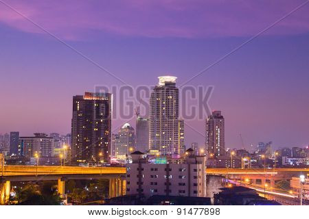 Bangkok Twilight Scene