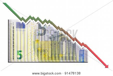 Euro Declining Graph bill