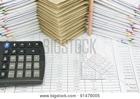 Bankruptcy Of House And Calculator On Finance Account