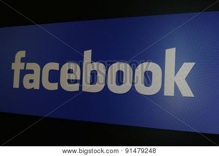 The Logo Of Facebook Website On Computer Screen