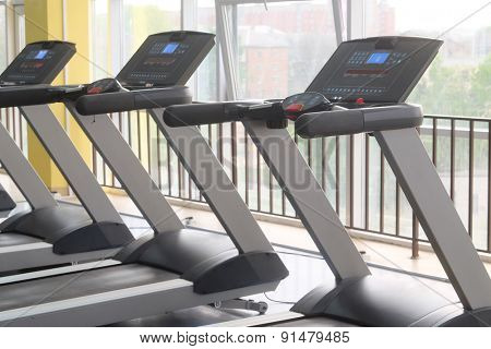 image of treadmills in a fitness hall