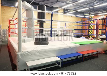 The image of a boxing ring