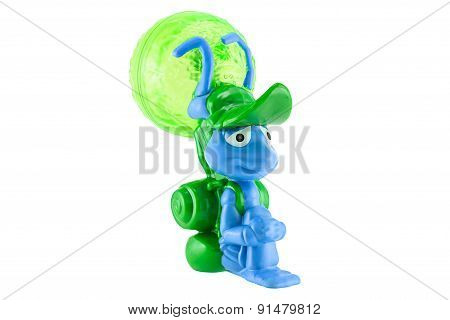 Flik With A Leaf Backpack Figure Toy