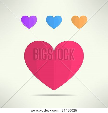 Vector heart icon in modern geometrical design. Social network like symbol