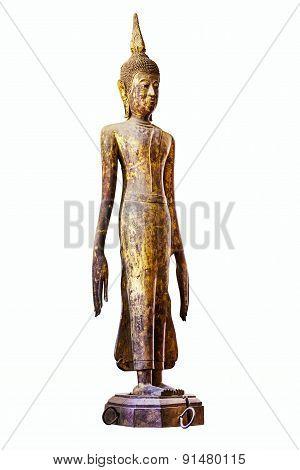 Image Of Buddha Isolated On White Background.