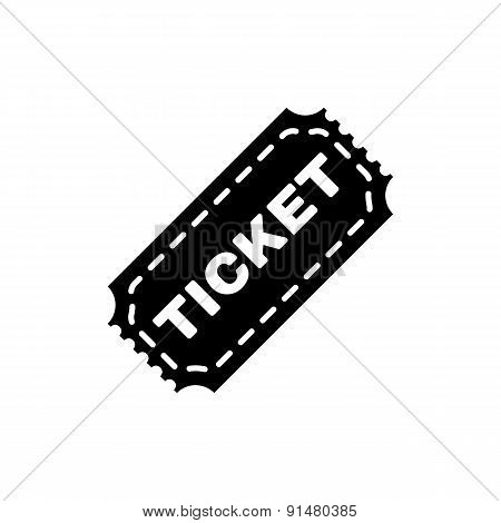 The Ticket Icon. Ticket Symbol. Flat