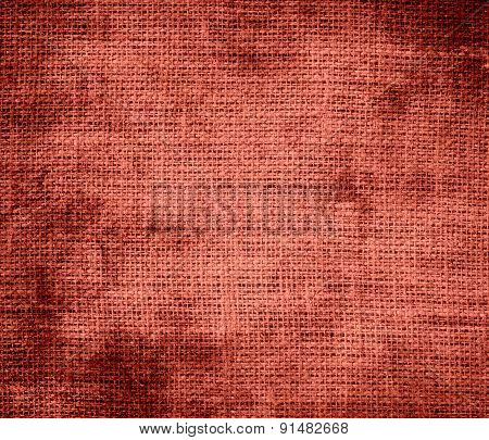 Grunge background of cedar chest burlap texture