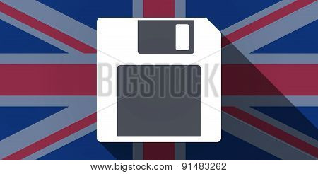 United Kingdom Flag Icon With A Floppy