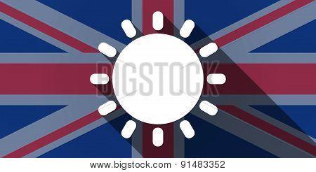 United Kingdom Flag Icon With A Sun