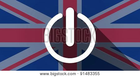 United Kingdom Flag Icon With An Off Sign