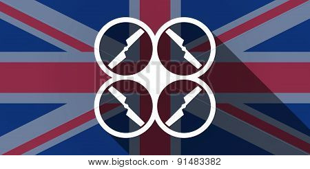 United Kingdom Flag Icon With A Drone