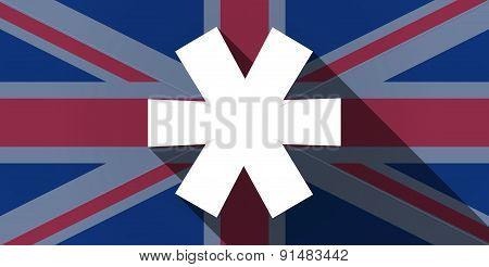 United Kingdom Flag Icon With An Asterisk