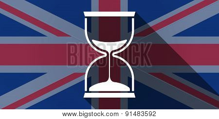 United Kingdom Flag Icon With A Sand Clock