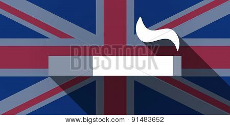 United Kingdom Flag Icon With A Cigarette