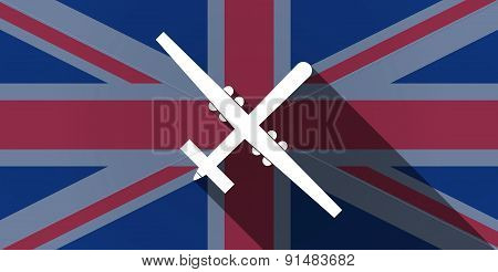 United Kingdom Flag Icon With A War Drone
