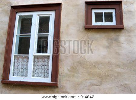 Worn Wall With Windows