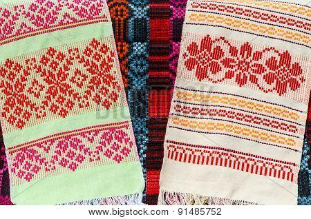 Belorussian Towels With A Classic Geometric Ornament