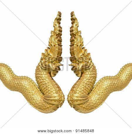 Gold Serpent  Statue
